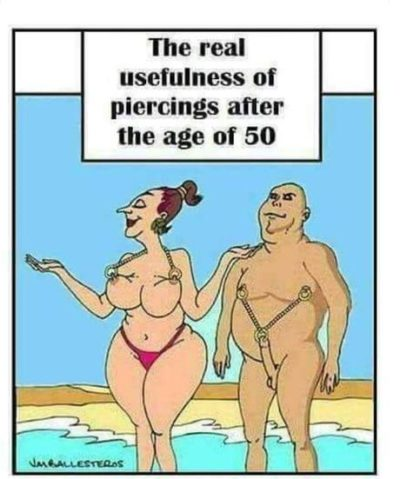 Piercings are useful after all