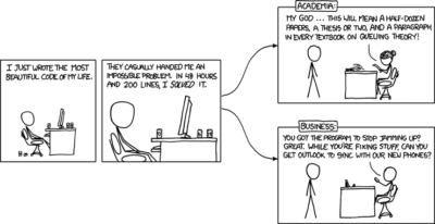 xkcd – Academia vs. business