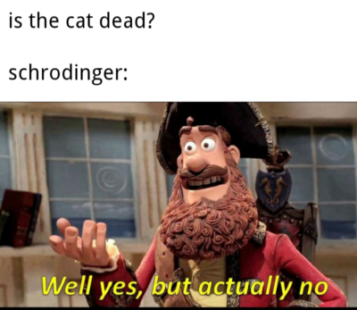 Schrodinger be like: