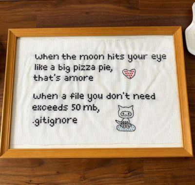 My girlfriend crocheted my favourite meme as a birthday gift