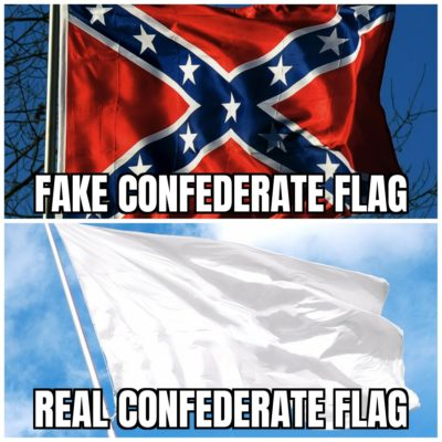 Fake vs Real Confederate Flag
