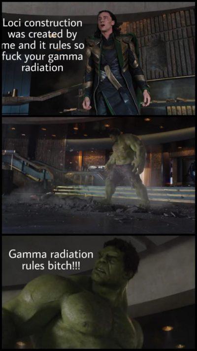 Loci construction vs gamma radiation maths vs science
