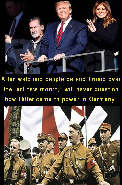 Compare Trump with Hitler