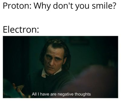This is why electron dosent smile