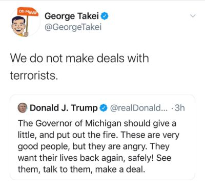 We don't make deals with terrorists!