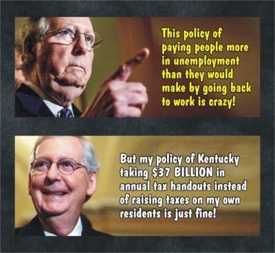 5/20/20 – McConnell vows end to enhanced COVID-19 unemployment benefits