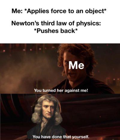 Physics meme