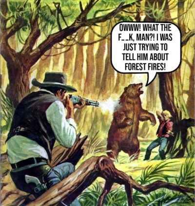 Only you can prevent forest fir— AAAH!