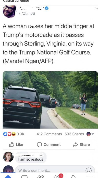 Motorcade to the golf course