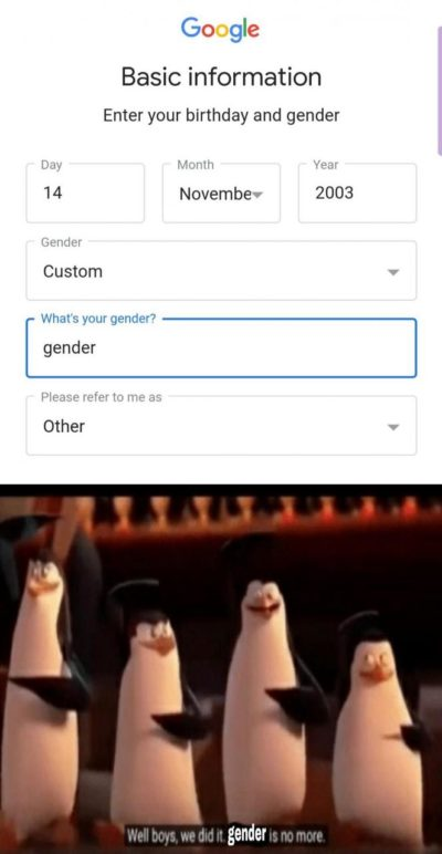 Gender no more