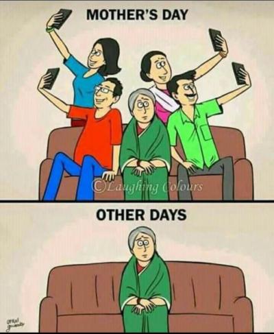 Phone bad mom alone
