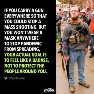 Gun make me big strong man.