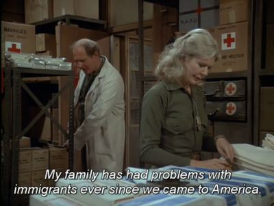 When Trump, as a 2nd gen immigrant, talks about the problem of immigration
