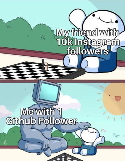 Github >>> Instagram
