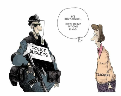 Battle of the budgets: police vs. teachers