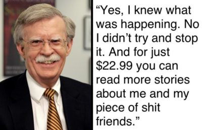 Tells of a White House Walrus – the John Bolton Story.