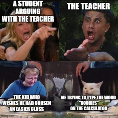 Ah, classroom arguments.
