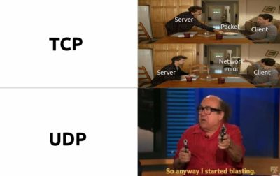 virgin TCP vs chad UDP
