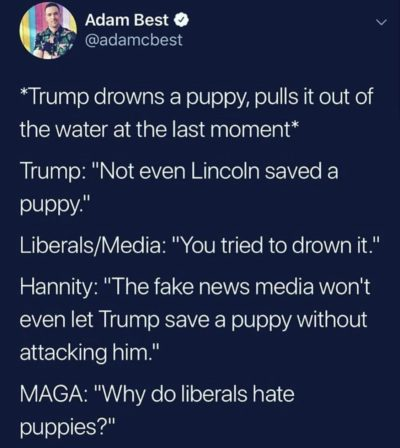 Those puppy hating liberals…