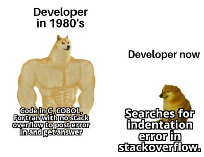 Developers in 1980's vs now