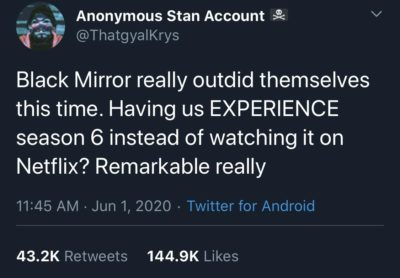 Black Mirror outdoing themselves