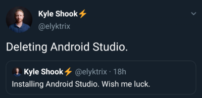 Android Studio!