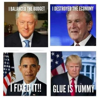 4 presidents compared.