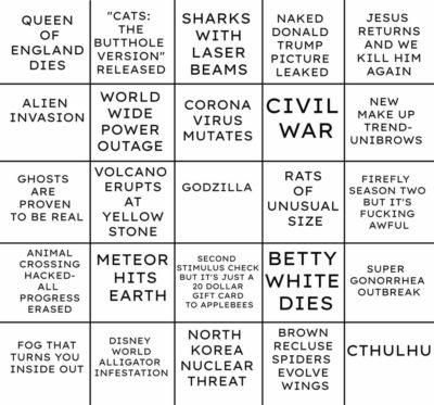 2020 bingo