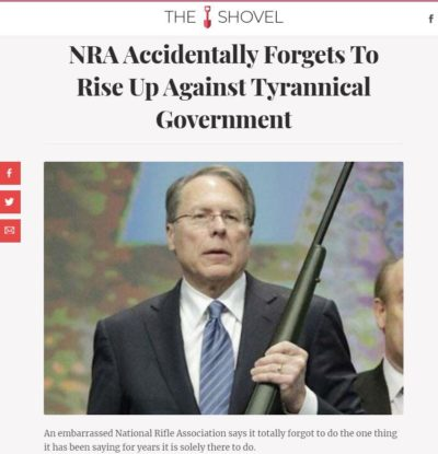 NRA accidentally forgets to rise up against tyrannical government