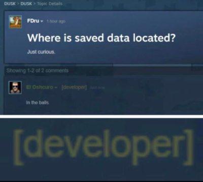 i love it when devs have sense of humor