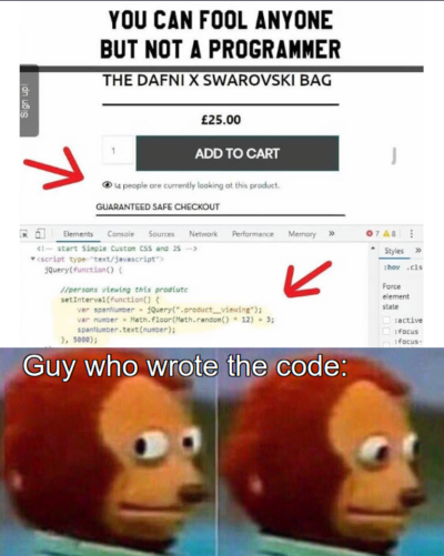 programmer didn't knew backend was a thing