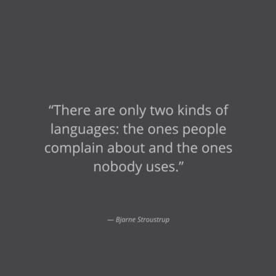 C++ creator's quote