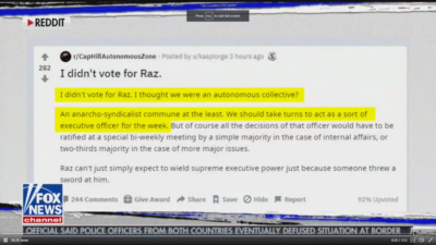 "Fox News reports on a Reddit post to show ""internal dissatisfaction with leadership"" in the C.H.A.Z, doesn't realize it's a bit from Monty Python"