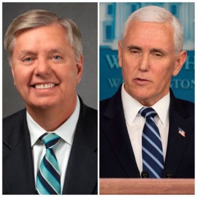 Today, the Supreme Court rules that Mike Pence and Lindsey Graham have the same rights as other workers #equality