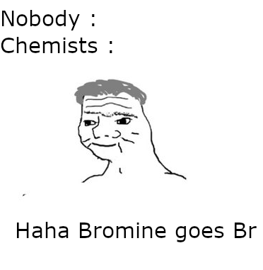 Bromine goes Br