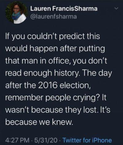 We knew