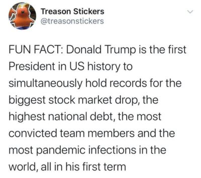 Fun fact- Trump is a record setting President