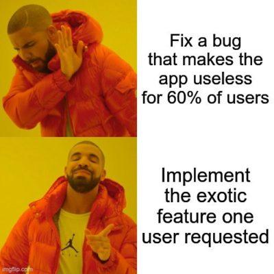 Open Source development be like…
