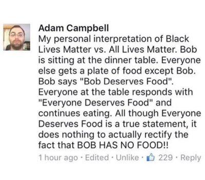 Adam understands. Be like Adam.