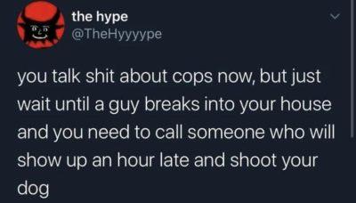 Ahhhhh the American police force