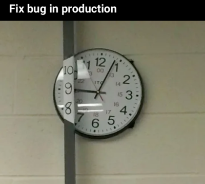 Fixing bug in Production 😄