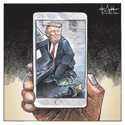Latest cartoon from Michael de Adder