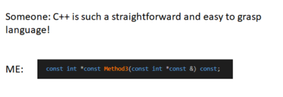 *Someone who actually knows C++
