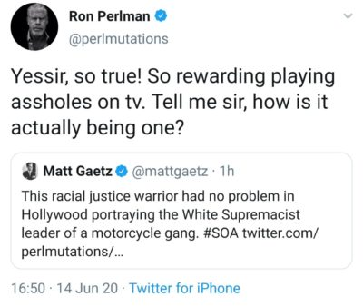 More like Ron Burnman …