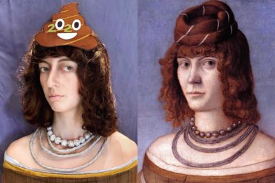 'Portrait of a Woman' – Vittore Carpaccio (1495-9) 'Poo'trait of 2020' – Isabella Beatrix (2020) <-💩 (I don't know about your 2020, but this image pretty much sums up mine!)