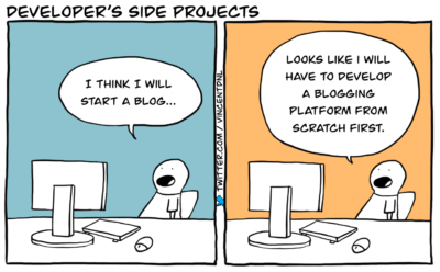 Because your side projects are just an excuse to make a new framework, right?