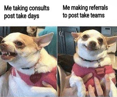 Post-take feels