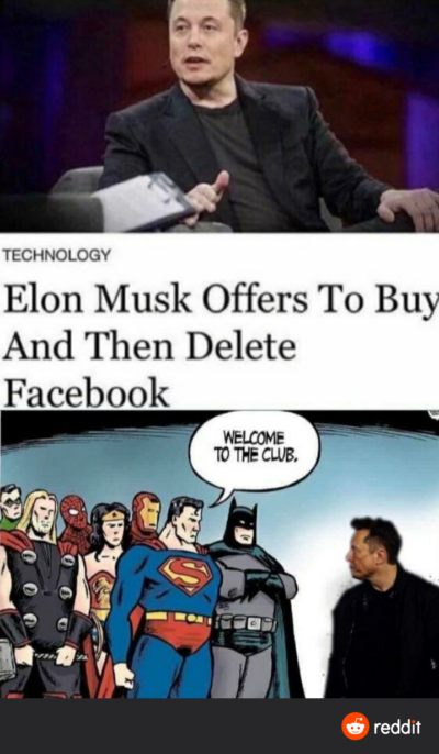 Elon good, Facebook bad