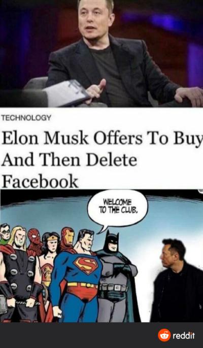 Elon good, Facebook bad