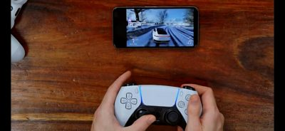 Austin Evans playing Forza on XBOX cloud using a PS5 controller on an Android phone , inception much?